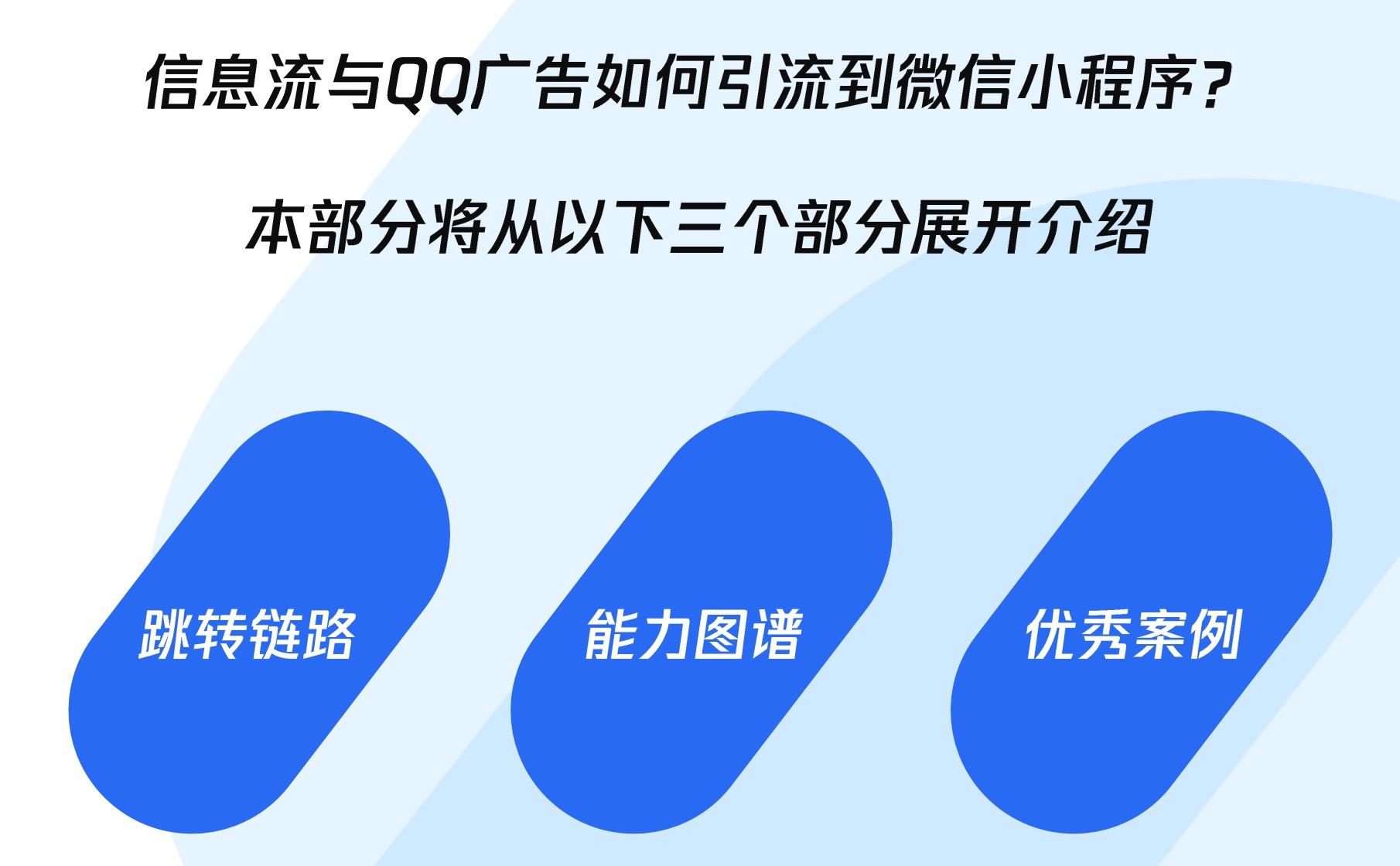 信息流与QQ广告如何引流到微信小程序
